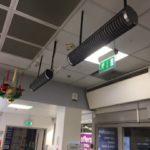 Calentadores infrarrojos para comercios