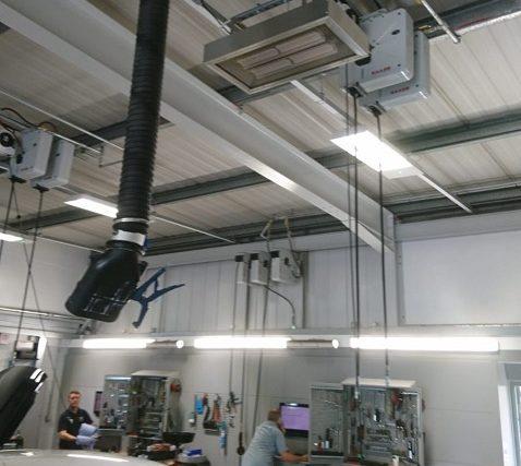 Calefacción de taller de garaje en Snows Volvo