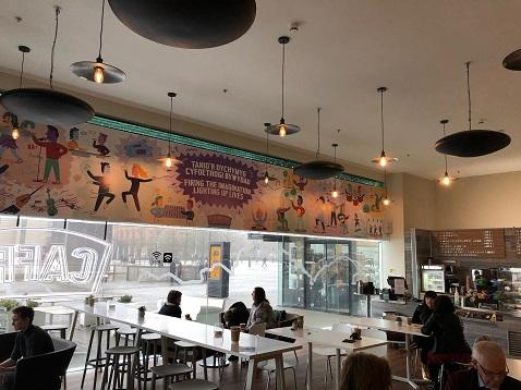 Herschel Pulsar calentando la cafetería Millenium Centre