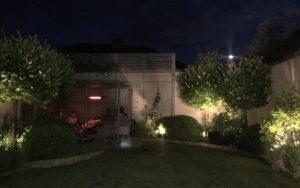 Outdoor lounge with Herschel California heaters